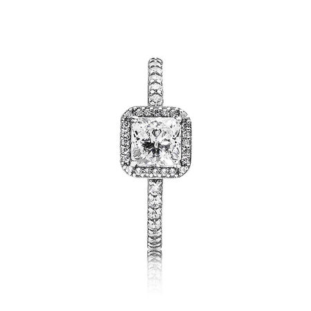 Timeless Elegance Ring, Clear CZ