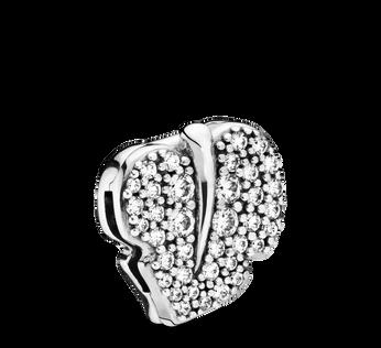 Pandora Reflexions™ Sparkling Leaf Clip Charm