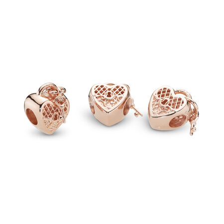 Love You Lock Charm, PANDORA Rose™