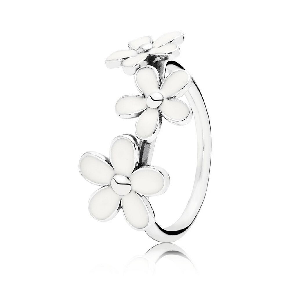 Darling daisies stackable ring white enamel pandora jewel darling daisies stackable ring white enamel izmirmasajfo Image collections
