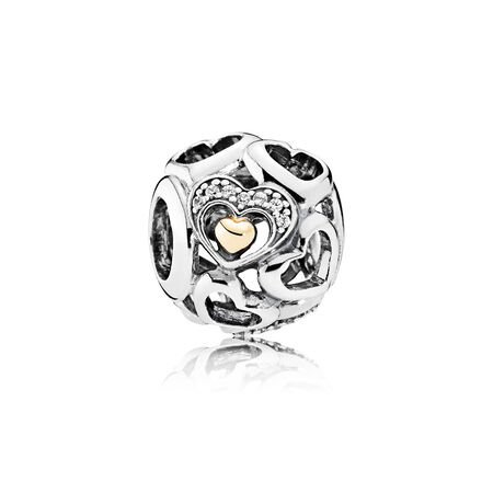 Heart of Romance Charm, Clear CZ