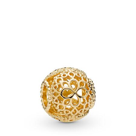 Openwork Flower Charm, Pandora Shine™