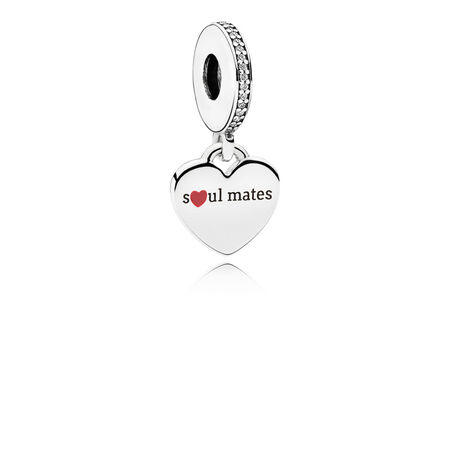 Soul Mates Engraved Heart Dangle