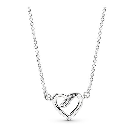 Dreams of Love Necklace, Clear CZ