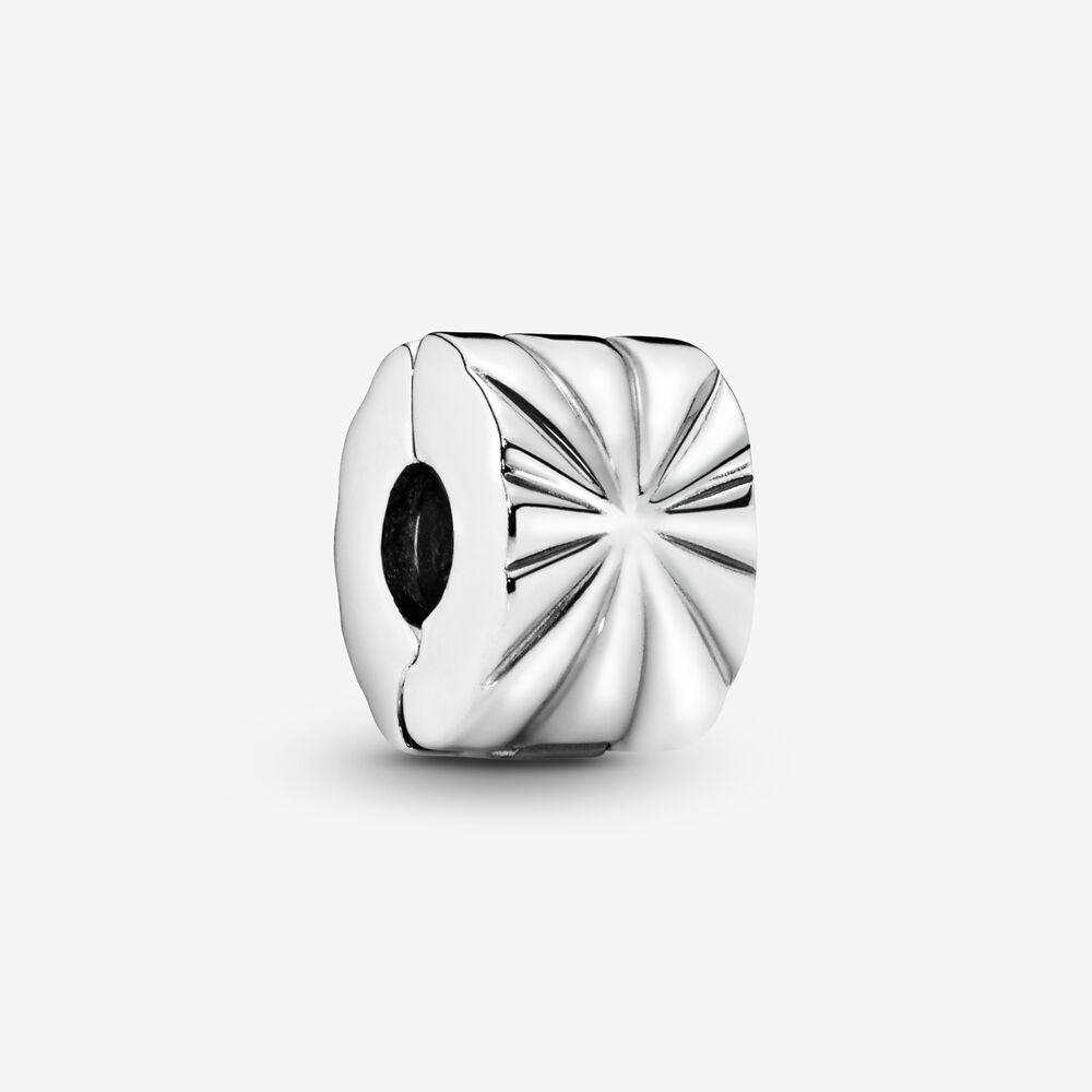 Sunburst Clip Charm   Sterling silver   Pandora US