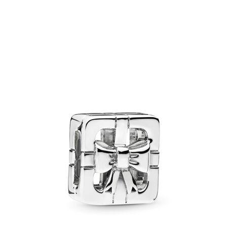 PANDORA REFLEXIONS™ Sweet Gift Box Clip Charm, Sterling silver, Silicone - PANDORA - #797538