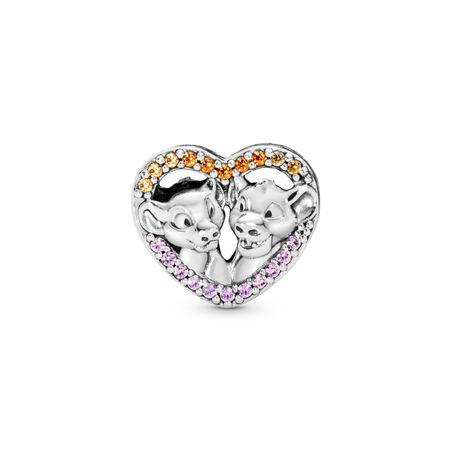 Disney, Sparkling Simba & Nala Heart Charm