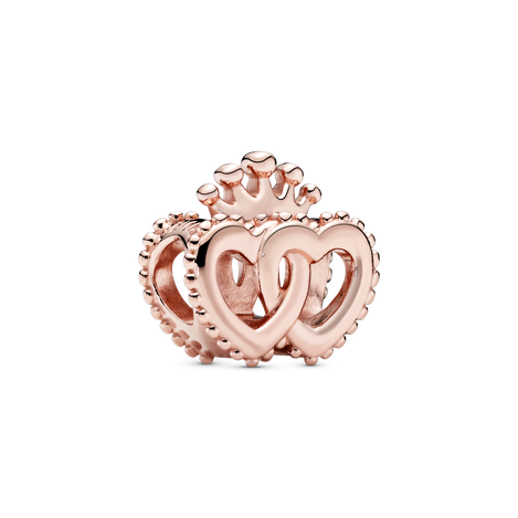 Crown and Entwined Hearts  Charm