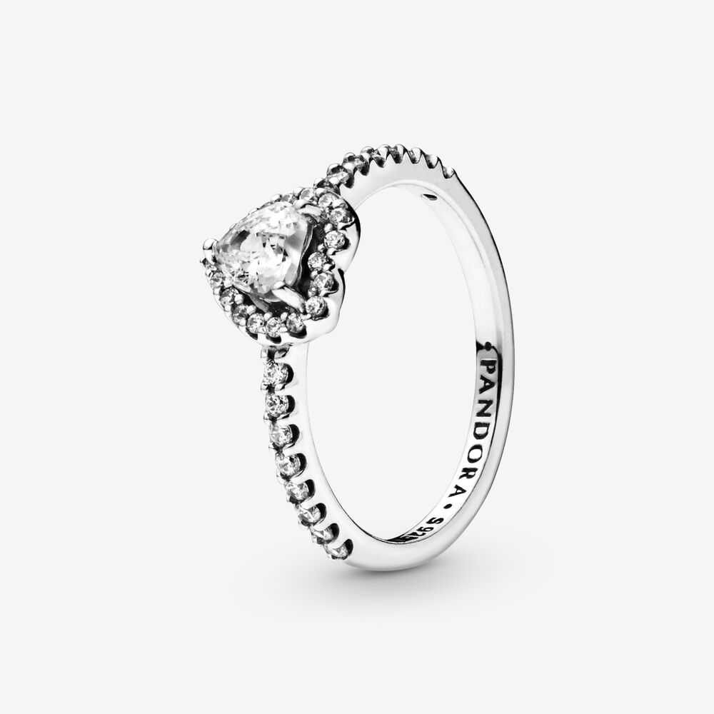 Elevated Heart Ring Sterling Silver Pandora Us