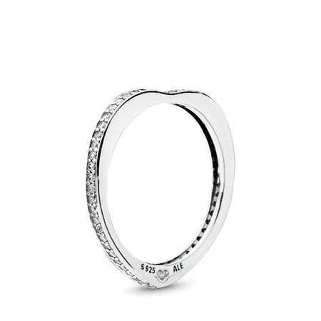 82be760001 Sparkling Arcs of Love Ring, Clear CZ Sterling silver, Cubic Zirconia