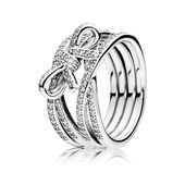 Delicate Sentiments Ring, Clear CZ