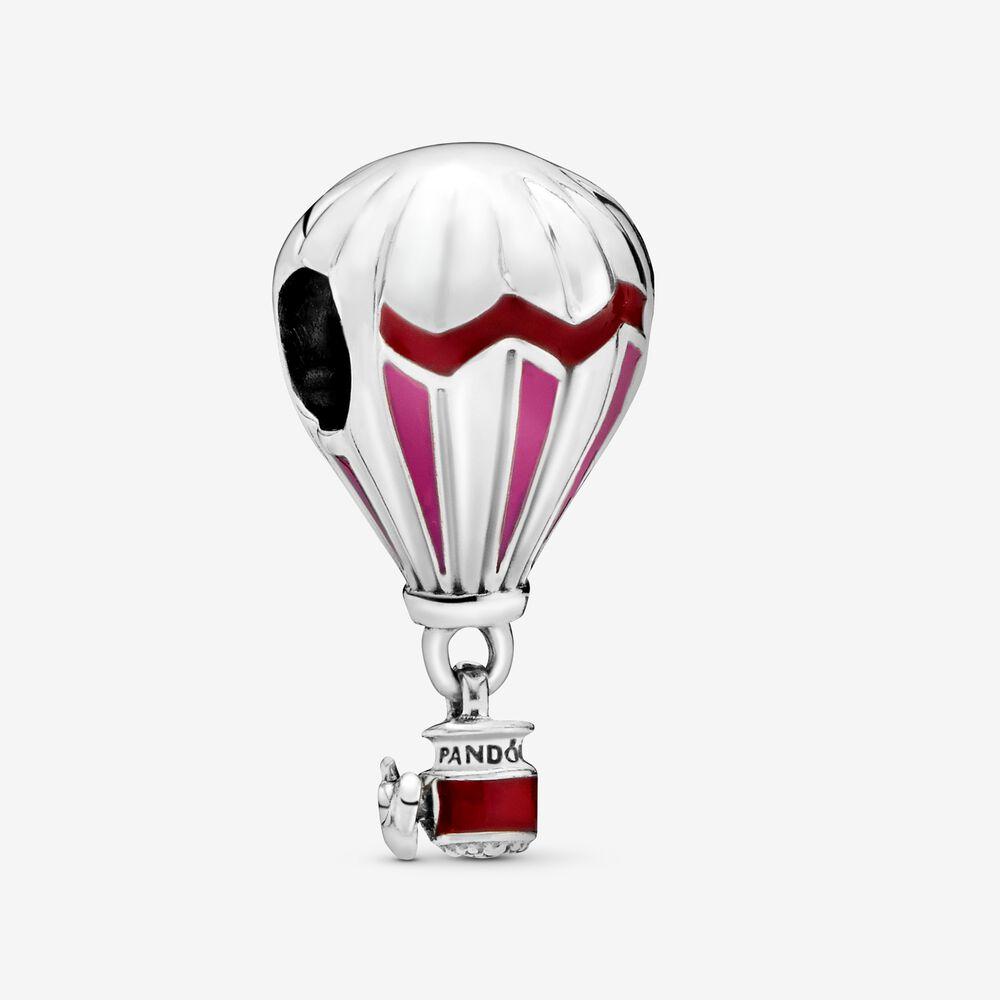 Red Hot Air Balloon Travel Charm