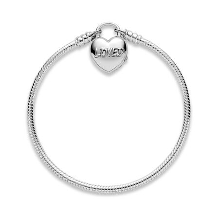 You Are Loved Heart Padlock Bracelet