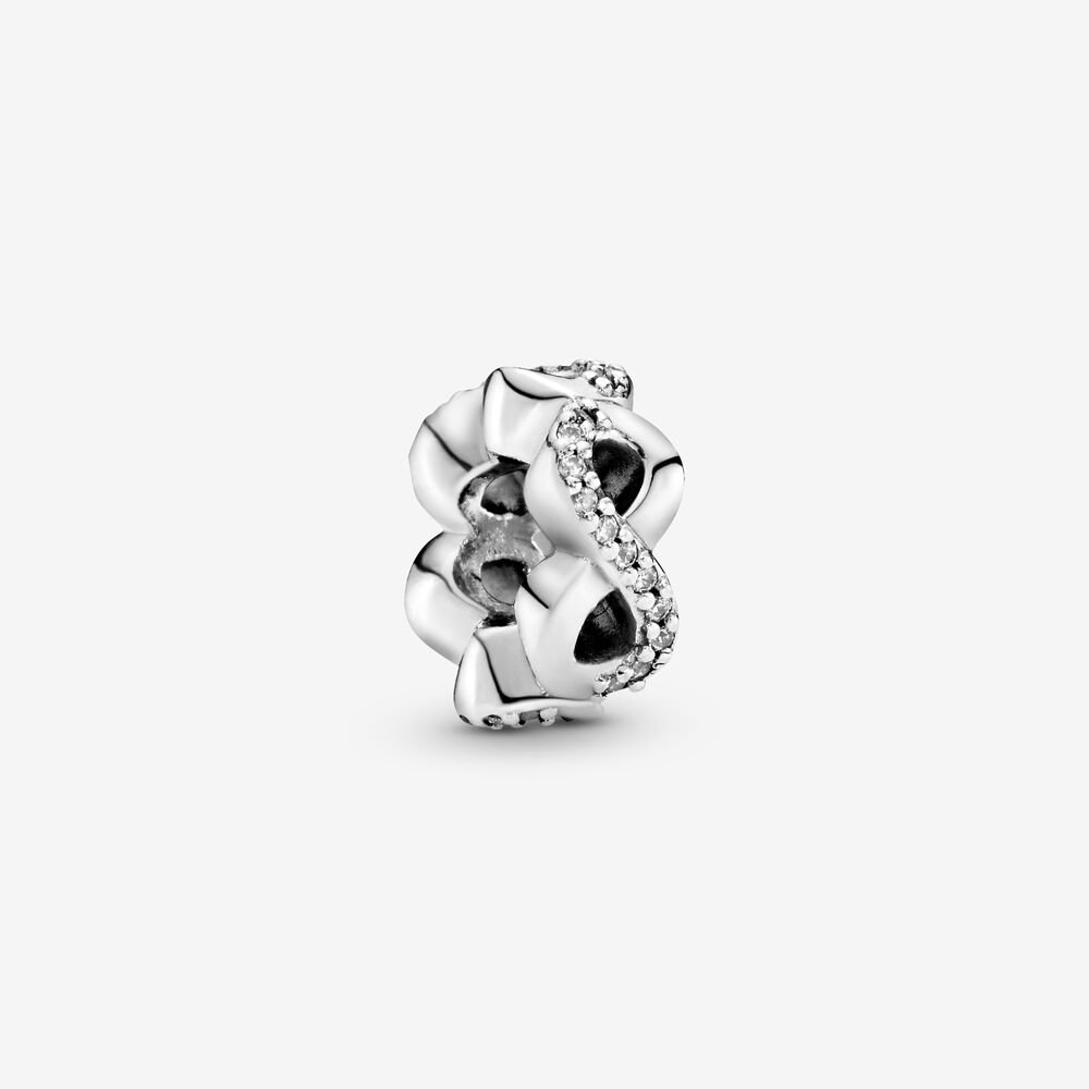 Sparkling Infinity Spacer Charm