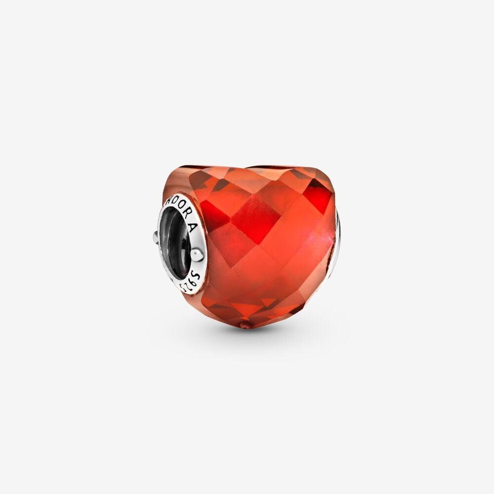 Orange Heart Charm