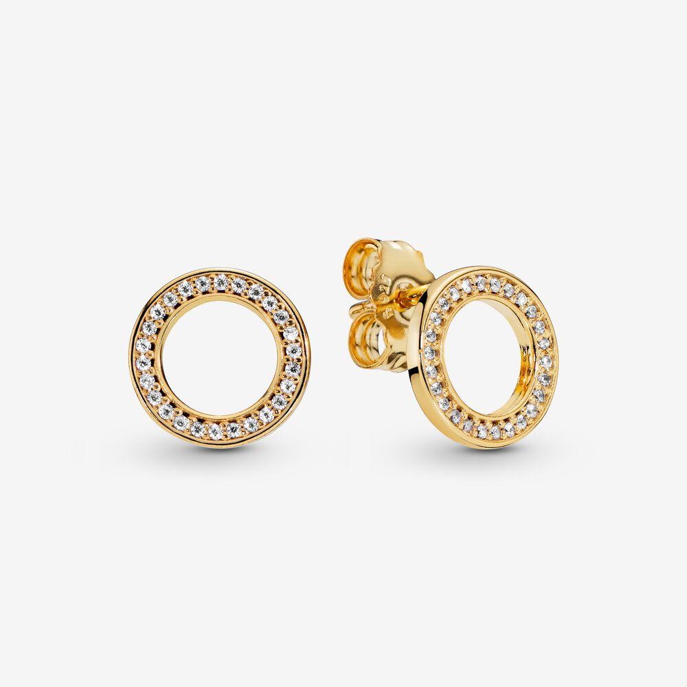 Circle of Sparkle Stud Earrings