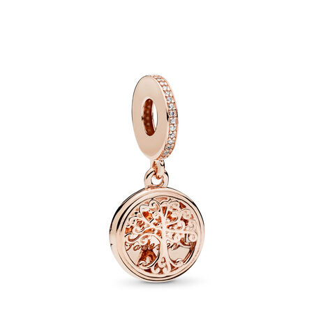 Family Roots Dangle Charm, PANDORA Rose™ & Clear CZ