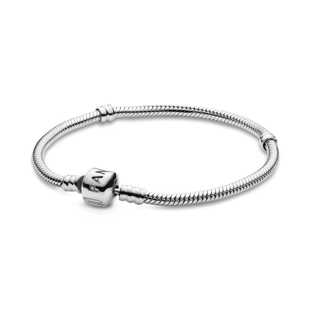 17e870b9e Moments Snake Chain Bracelet, Sterling silver - PANDORA - #590702HV