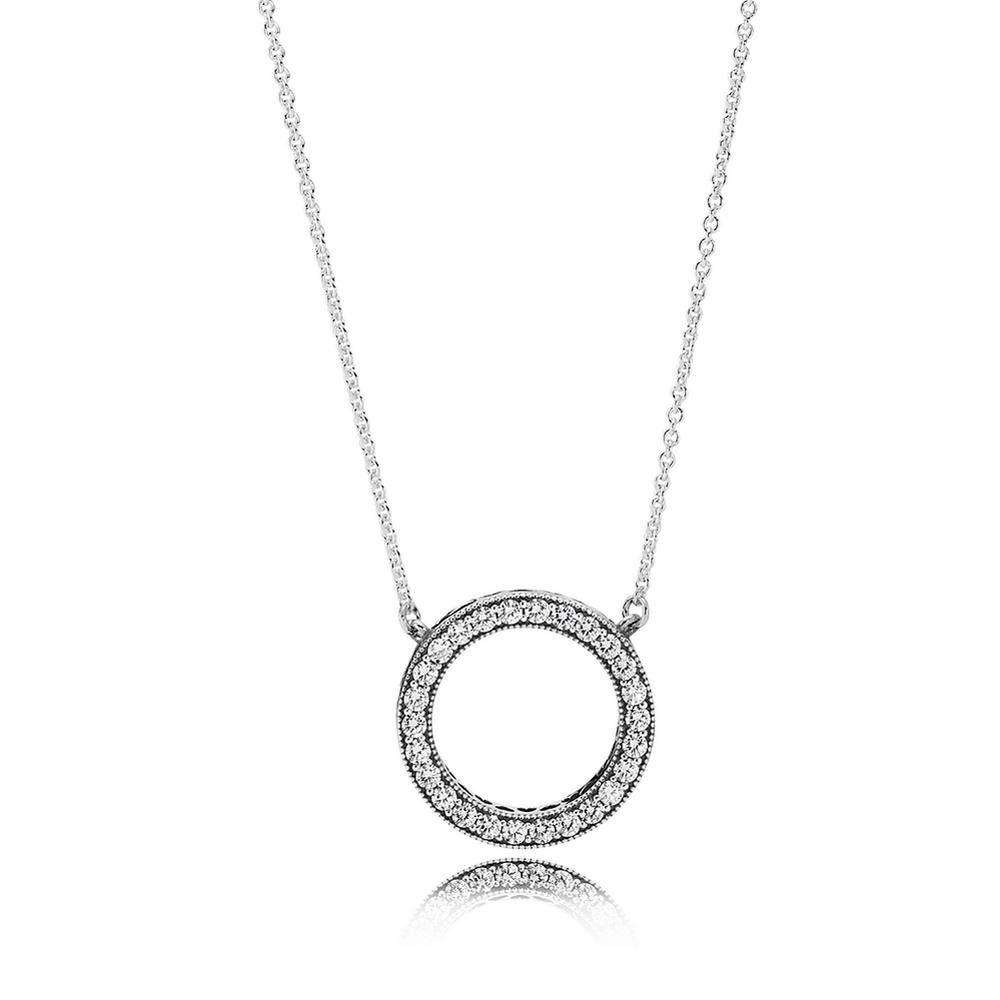 Hearts of pandora pendant necklace clear cz pandora jewel hearts of pandora pendant necklace clear cz aloadofball Images