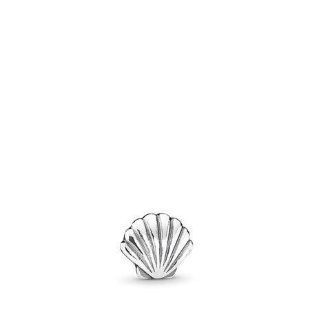 Tropical Shell Petite Locket Charm, Sterling silver - PANDORA - #792180