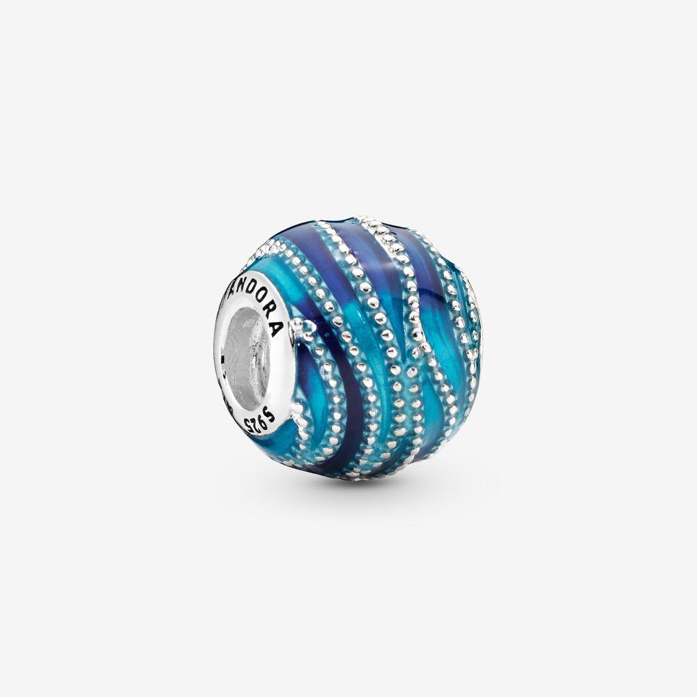 Blue Wave Charm | Sterling silver | Pandora US