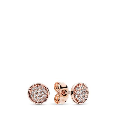 Dazzling Droplets Stud Earrings, PANDORA Rose™ & Clear CZ