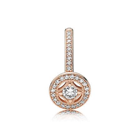 Vintage Allure Ring, PANDORA Rose™ & Clear CZ