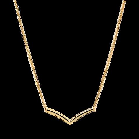 Polished Wishbone Necklace