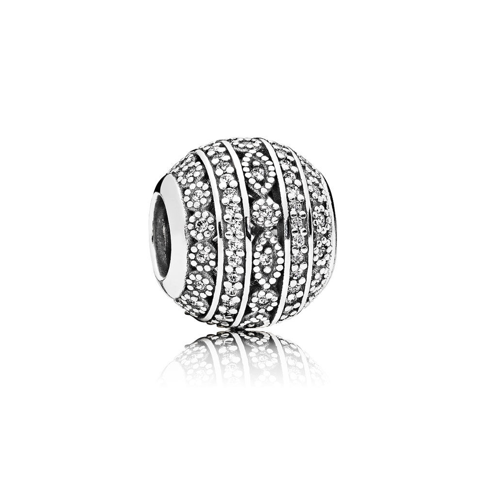 Pandora Women Silver Bead Charm - 796243CZ wa9RRbQ82c