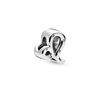 Leo sterling silver charm with clear cubic zirconia