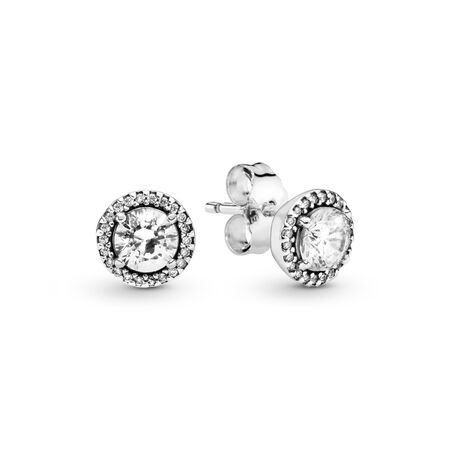 7486b7240 Round Sparkle Stud Earrings Sterling silver, Cubic Zirconia