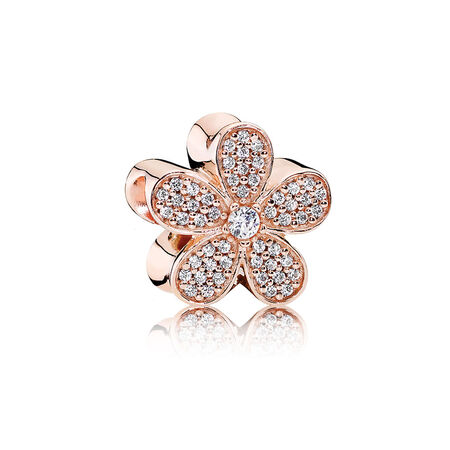 Dazzling Daisy Charm, PANDORA Rose™ & Clear CZ