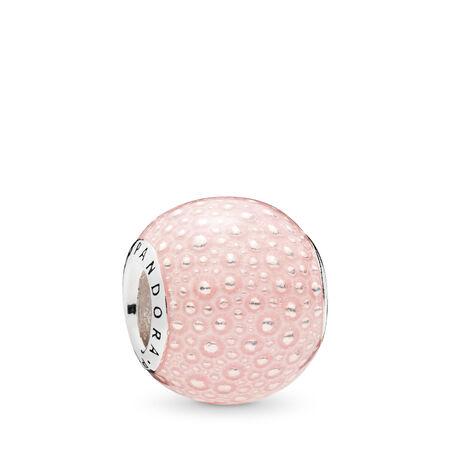 Pink Enchantment Charm, Transparent Pink Enamel, Sterling silver, Enamel, Pink - PANDORA - #797091EN160