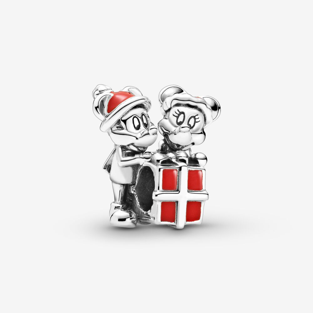 Disney Mickey Mouse and Minnie Mouse Present Charm | Sterling ...