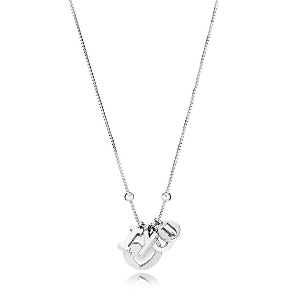 I love you necklace pandora jewelry us i love you necklace aloadofball Image collections