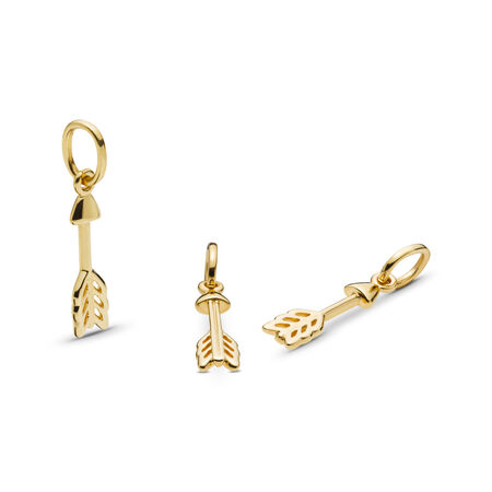 Arrow of Cupid Charm, PANDORA Shine™, 18ct Gold Plated - PANDORA - #767812