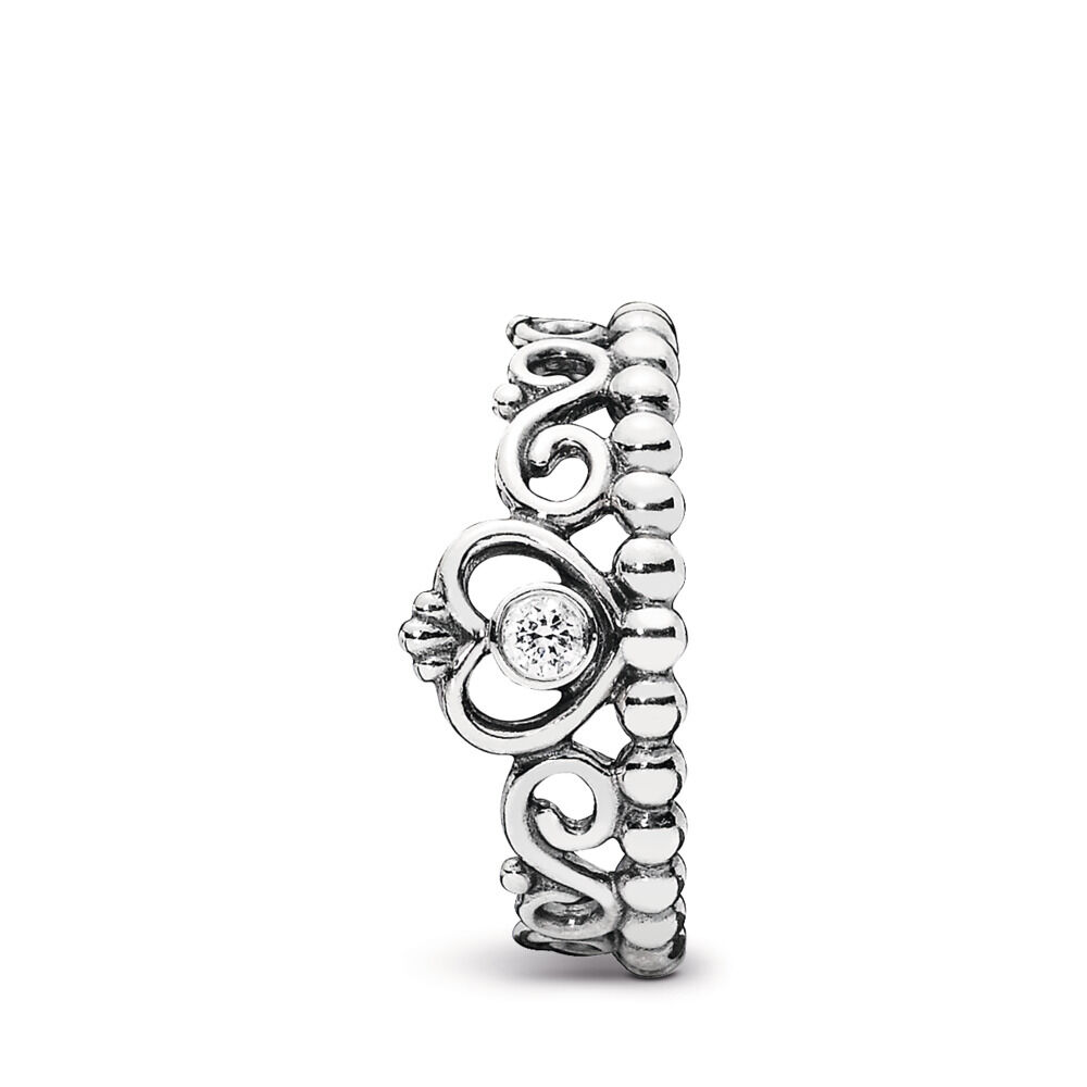 0da1bf749 My Princess Stackable Ring, Clear CZ, Sterling silver, Cubic Zirconia -  PANDORA -