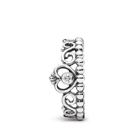 My Princess Stackable Ring, Clear CZ