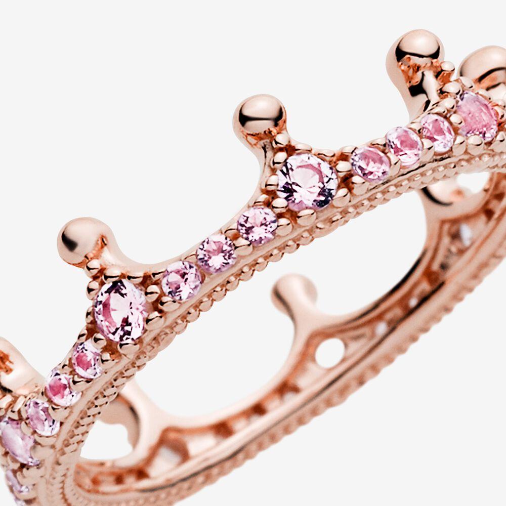 Pink Enchanted Crown Ring in Pandora Rose™ | Rose gold plated ...