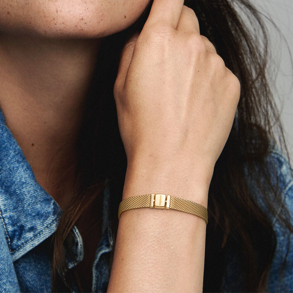 Pandora Reflexions™ Mesh Bracelet | Gold plated | Pandora US