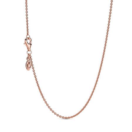 Necklace Chain, Sterling Silver & 14K Rose Gold, PANDORA Rose - PANDORA - #580413