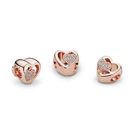 Joined Together Charm, PANDORA Rose™ & Clear CZ