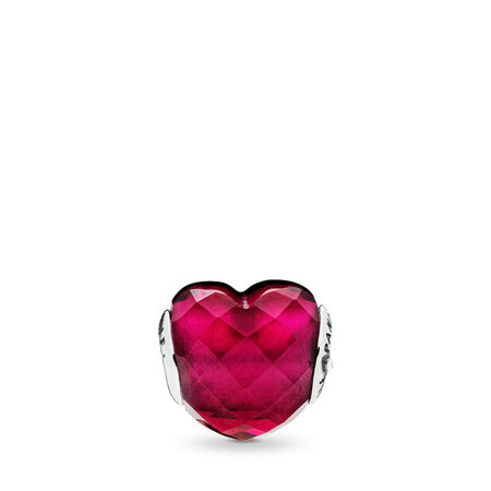 LOVE Charm, Fuchsia Red Crystal