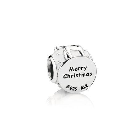 Snow Globe Charm, White Enamel, Sterling silver, Enamel, White - PANDORA - #791228EN12