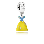 Disney, Snow White's Dress Dangle Charm, Mixed Enamel