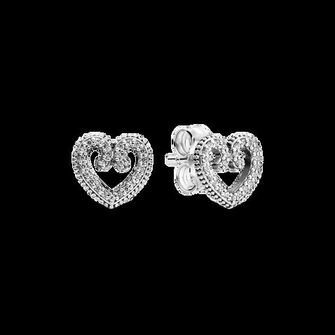 Heart Swirl Stud Earrings