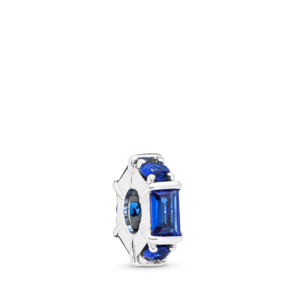 a7131f950 Ice Sculpture Spacer, Blue Crystal, Sterling silver, Blue, Crystal - PANDORA  -
