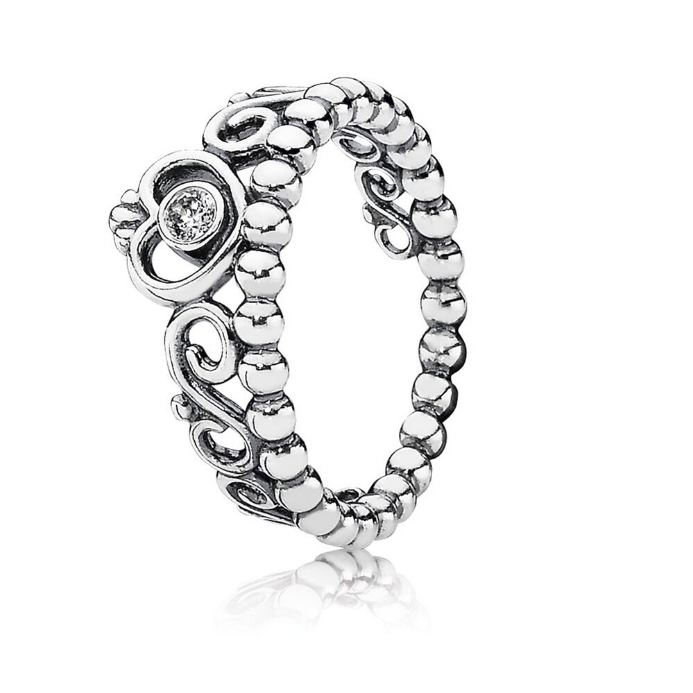 My Princess Stackable Ring Clear CZ PANDORA Jewelry US