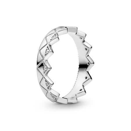 Exotic Crown Ring, Sterling silver, Cubic Zirconia - PANDORA - #198033CZ