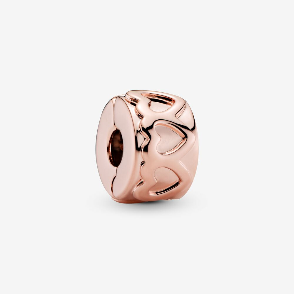 Band of Hearts Clip Charm | Rose gold plated | Pandora US